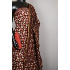 Cotton Unstitched Salwar Suit Material With Kantha Work BL KA329