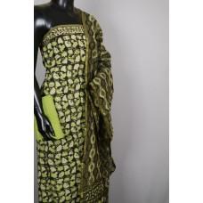 Cotton Unstitched Salwar Suit Material With Kantha Work BL KA331