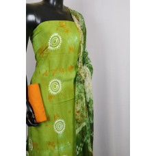 Rayon Unstitched Salwar Suit Material (Green Combo) PN MS196