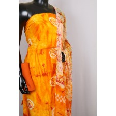 Rayon Unstitched Salwar Suit Material (L.Orange Combo) PN MS197