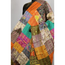Chanderi Dupatta With Kantha Work Multi Colour Patch  PNMSD 001