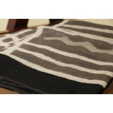 Cotton Jute Dupatta With Block Print (Ash) PNMSD 002