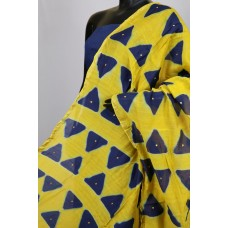 Chanderi Dupatta With Mirror Work (Mustard)  PNMSD 005