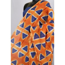 Chanderi Dupatta With Mirror Work (Orange) PNMSD 006