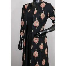 Cotton Kurti With Elegant Detachable Over Coat-PN KT007