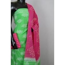 Printed Soft Cotton Unstitched Salwar Suit Material-BL KA366