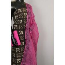 Kashish Printed Soft Cotton Unstitched Salwar Suit Material - BL KA410