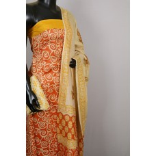 Semi Pashmina Unstitched Salwar Suit Material - BQ AA531