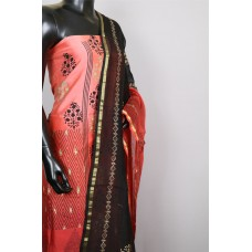 Designer Printed Chanderi Unstitched Salwar Suit Material– BQ AA780