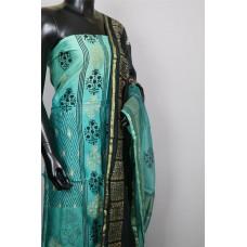 Designer Printed Chanderi Unstitched Salwar Suit Material– BQ AA781