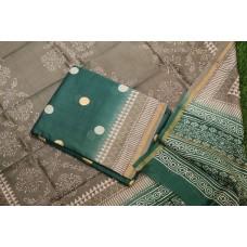 Block Printed Maheswari Unstitched Salwar Suit Material – BQ AA1050