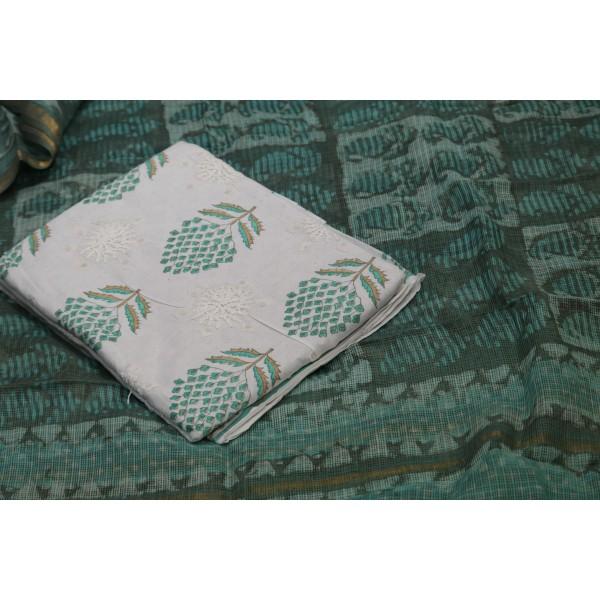 Applique Work Cotton Unstitched Salwar Suit Material BQ AA1087
