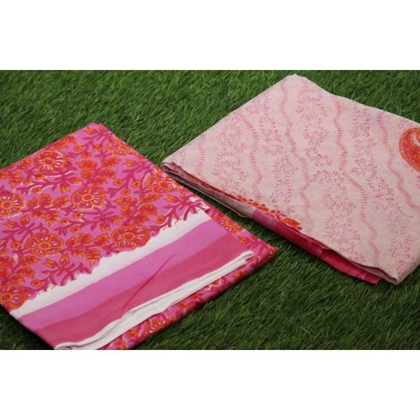 Soft Cotton Unstitched Salwar Suit Material BQ AA1090