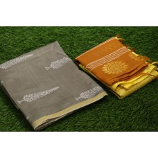 Printed Chanderi Unstitched Salwar Suit Material – BQ AA1092
