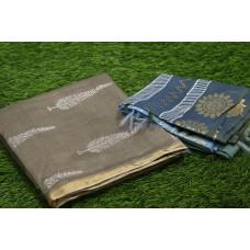Printed Chanderi Unstitched Salwar Suit Material – BQ AA1094