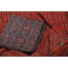 Ajrakh Hand Block Printed Cotton Unstitched Salwar Suit Material -BQ AA939