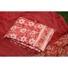Semi Pashmina Unstitched Block Printed Salwar Suit Material - BQ AA951