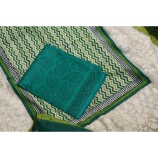 Block Printed Chanderi Unstitched Salwar Suit Material – BQ AA958