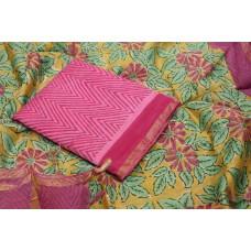 Block Printed Maheswari Unstitched Salwar Suit Material – BQ AA968