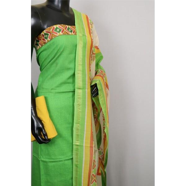 Designer Cotton Unstitched Salwar Suit Material - RM AA024