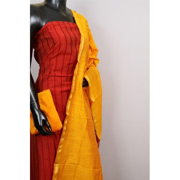 Art silk Unstitched Salwar Suit Material PN MS432