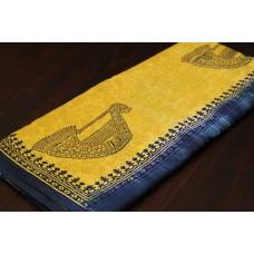 Block Printed Soft Cotton Saree - VC SR069