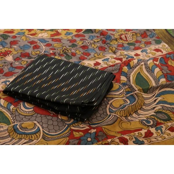 Ikkat Cotton Unstitched Salwar Suit Material  IK AA016