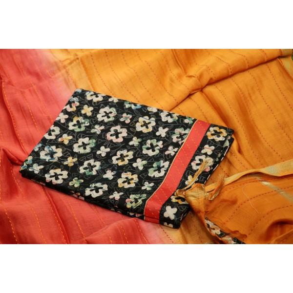 70gms Chanderi Unstitched Salwar Suit Material – SW AA036