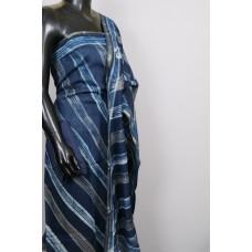 Indigo Chanderi Unstitched Salwar Suit Material  VC SS010