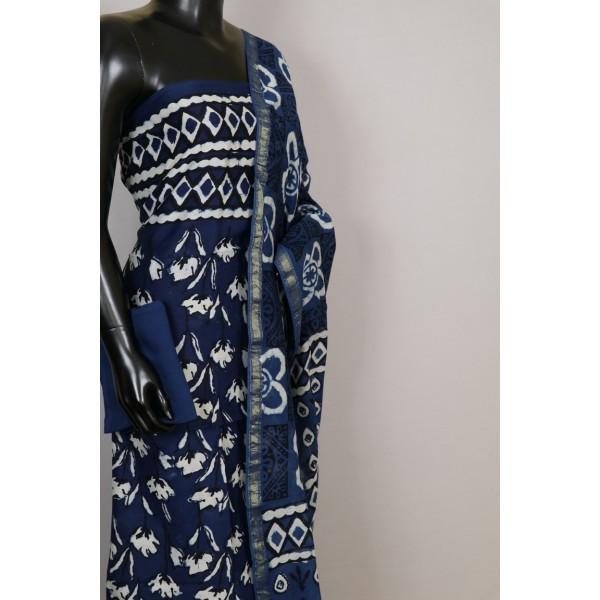 70 Gms Chanderi Unstitched Salwar Suit Material – VK EA144