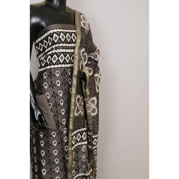 70 Gms Chanderi Unstitched Salwar Suit Material – VK EA146