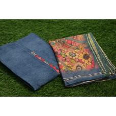 Chanderi Unstitched Salwar Suit Material–YA VC077