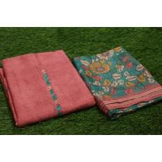 Chanderi Unstitched Salwar Suit Material–YA VC078
