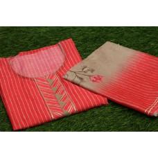 Chanderi Unstitched Salwar Suit Material–YA VC105