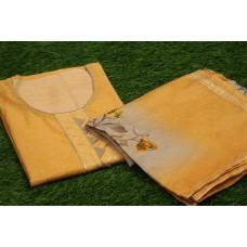 Chanderi Unstitched Salwar Suit Material–YA VC106