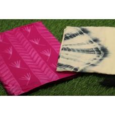 Shibori Design Cotton Unstitched Salwar Suit Material–YA VC120