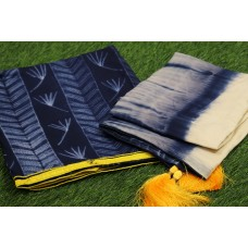 Shibori Design Cotton Unstitched Salwar Suit Material–YA VC121